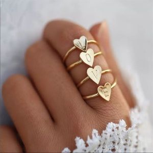 NEW DAINTY GOLD INITIAL LETTER RING